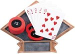 Poker - Diamond Plate Resin Trophy All Award Trophies