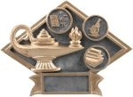 Education - Diamond Plate Resin Trophy All Award Trophies