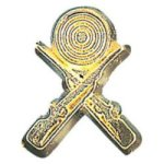 Crossed Rifles -  Chenille Pin Animal, Hunting and Fishing Award Trophies