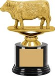 Animal - Hereford Cow on Round Base Animal, Hunting and Fishing Award Trophies