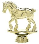 Animal - Draft Horse on Marble Base Animal, Hunting and Fishing Award Trophies