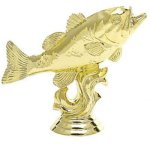 Fishing - Bass on Marble Base Animals, Fish and Birds
