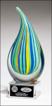 Droplet  - Multi-colored Art Glass Art Glass Over $50