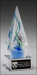 Arrow-Shaped Art Glass Sculpture Art Glass Over $50