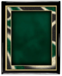 Artist Series Plate (Emerald) with Piano Finish Plaque Artist Series Plate