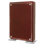 Stunning Floating Acrylic Stand-Up Plaque - Rosewood Awesome Acrylic Plaques
