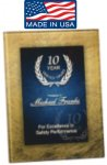 Gold and Blue Art Plaque Awesome Acrylic Plaques