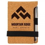 Cork Mini Notepad with Pen Bamboo and Cork Eco-Friendly Items