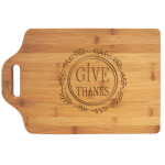 Bamboo Cutting Board with Handle Bamboo and Cork Eco-Friendly Items