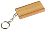 Bamboo 8 GB USB Flash Drive with Key Chain Bamboo and Cork Eco-Friendly Items