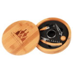 Bamboo 4-Piece Wine Tool Gift Set with Custom Disc Bamboo and Cork Eco-Friendly Items