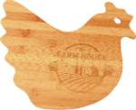 Bamboo Hen Cutting Board Bamboo and Cork Eco-Friendly Items