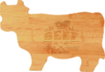 Bamboo Cow Cutting Board Bamboo and Cork Eco-Friendly Items