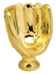 Sport Ball Trophy - Gold Tone Baseball Glove Baseball and T-Ball Award Trophies