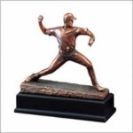 Baseball Pitcher (Male) - Bronze Resin Sculpture Baseball and T-Ball Award Trophies
