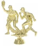 Male Double Action Baseball on Marble Base Baseball and T-Ball Award Trophies