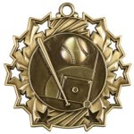 Baseball/Softball - Ten Star Medal Baseball and T-Ball Medals