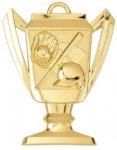 Baseball/Softball - Trophy Cup Medallion Baseball and T-Ball Medals