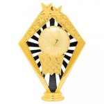 Basketball Black and Gold Sunrise Figure on Round Base   Basketball