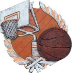 Basketball Plaque with Full Color Mount Basketball Award Trophies