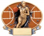 Basketball (Female) - Xplosion Oval Basketball Award Trophies