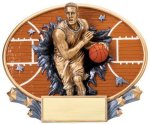 Basketball  (Male) - Xplosion Oval Basketball Award Trophies