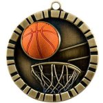 Basketball - 3-D Medallion Basketball Medals