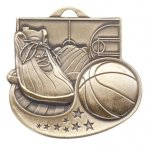Basketball - Star Blast Series II Medal . Basketball Medals