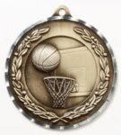 Diamond Cut Medal - Basketball Basketball Medals