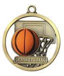 Basketball - Game Ball Medallion Basketball Medals
