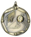 Basketball - Ribbon Medallion Basketball Medals