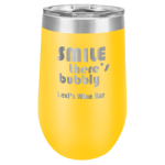 16 Oz Yellow Coated Stemless Tumbler    Beer and Cocktail Glasses