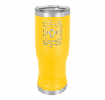 14 Oz Yellow Coated Pilsner Tumbler      Beer and Cocktail Glasses