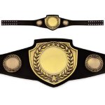 Championship Award Belt Antique Gold or Antique White Belts | Championship