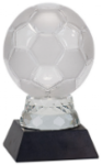 Soccer/Futball Ball on Black Solid Marble Base Black Glass and Black Base Awards