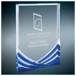 Rectangle Soaring Acrylic Award - Blue Blue Acrylic Awards