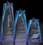 Sculpted Star Acrylic Tower - Blue Blue Acrylic Awards
