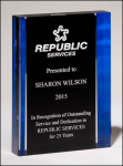 Premium Series Acrylic with Blue Border Blue Acrylic Awards