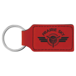 Key Ring - Rectangle Leatherette Bottle Openers and Key Chains