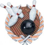 Bowling Plaque with Full Color Mount Bowling Award Trophies
