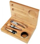 Bamboo 4-Piece Wine Tool Set Boxes