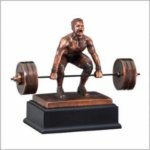 Weightlifting (Male) - Deadlift Bronze Resin Awards