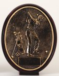 Golfer - Bronze  Oval Golf Resin Bronze Resin Awards
