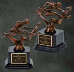 Business Hurdler on Black Base Bronze Resin Awards
