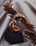 Eagle Soaring- Bronze Resin Sculpture Bronze Resin Awards