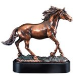 Stallion Horse - Bronze Resin Sculpture Bronze Resin Awards