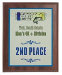Walnut Wood Finish Plaque with Full Color Plate Car and Car Show Plaques