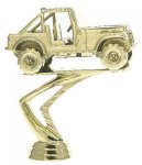 Car Show - Jeep on Round Base Cars, Cycles and Racing Award Trophies