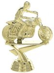 Motorcycle Flat Track on Round Base Cars, Cycles and Racing Award Trophies