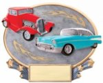 Car Show Cruise Oval Resin Cars, Cycles and Racing Award Trophies